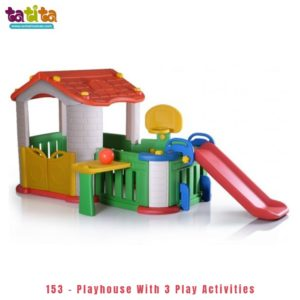 Playhouse with 3 play activities